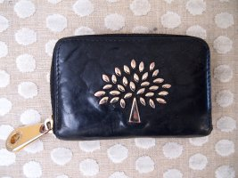 Mulberry Wallet black-gold-colored leather
