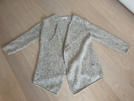 Coarse Knitted Jacket oatmeal-brown mixture fibre
