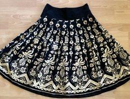 H&M Flared Skirt natural white-black