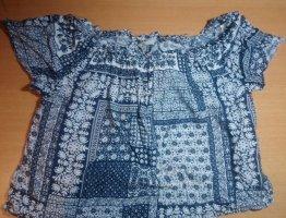 Ruche blouse veelkleurig
