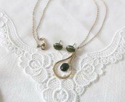 American Vintage Parure bijoux doré-vert forêt
