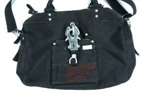 GEORGE GINA & LUCY große Umhänge Schulter Tasche schwarz Nylon