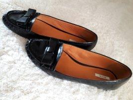 Geox Respira Patent Leather Ballerinas black