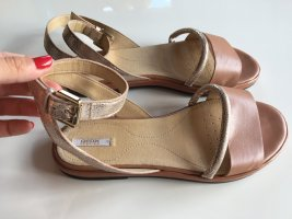 Geox Sandales à lanière rose chair-or rose cuir