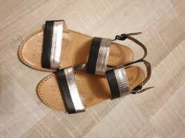 Geox Respira Strapped Sandals black-silver-colored