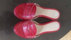 Geox Respira Outdoor Sandals brick red leather