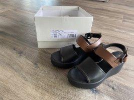 Geox Respira Sandales à talons hauts et plateforme noir-brun cuir