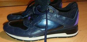 Geox Schuh, Sneaker, Sportlich, Gr. 37, Schwarz, Lila, Lack