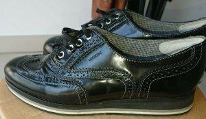 Geox, Schuhe, Budapest Muster, Lackleder, Schwarz, Gr. 39