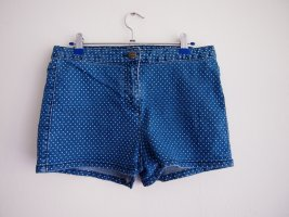 Aniston Hot Pants white-steel blue cotton