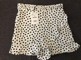 Zara Falda pantalón blanco-negro