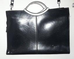 geräumige Leder Tasche mit Trageriemen zum Umhängen