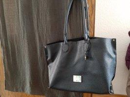 geräumiger schwarzer Shopper von L.Credi mit herausnehmbarer Innentasche