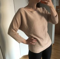 Gerippter Pullover in Rosé-Nude
