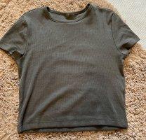 Geripptes croped Shirt
