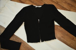 Nakd Cropped Shirt black-silver-colored