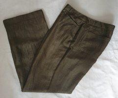 Gerry Weber Pantalón de lino ocre-gris verdoso