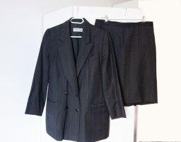 Gerry Weber Twin Set Anzug Rock und Blazer Business Wolle Nadelstreifanzug Kostüm Gr. 40 42 L