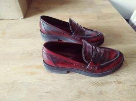 Geste Proposition Oxfords bordeaux imitation leather