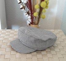 gestreifte Baker Boy Mütze, Kappe von Zara