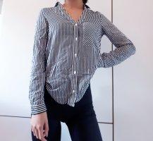 Zara Linen Blouse white-black
