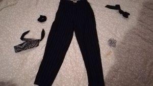 Pull & Bear Jersey Pants black-white polyester