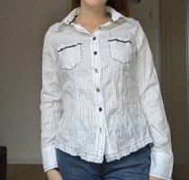 Gestreifte weiße Bluse