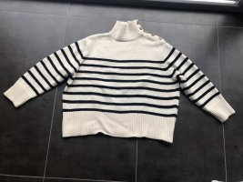 Gestreifter oversized Pullover Gr. L Zara