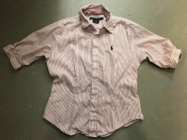Lauren by Ralph Lauren Shirt Blouse white-dark red cotton