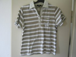 Polo shirt wit-khaki