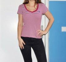 Gestreiftes Ralp Lauren Shirt rot / weiß
