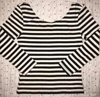 H&M Camicetta alla carmen nero-bianco