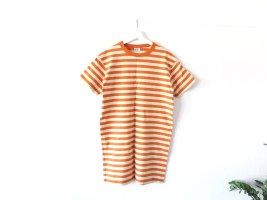 gestreiftes Uniqlo Kleid Gr. M 40 42 hellgelb ocker orange T-Shirt Kleid oversized