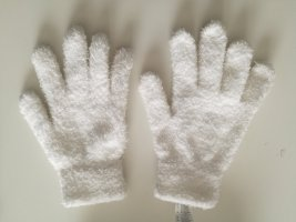 Fur Gloves white polyester