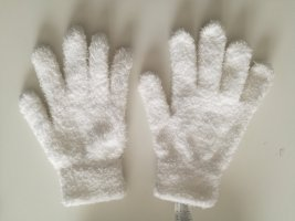 Fleece Gloves white polyester