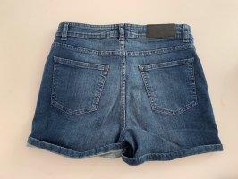 Gestuz Pantaloncino di jeans grigio ardesia