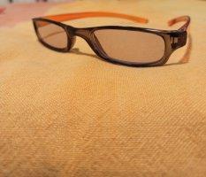 Occhiale stile retro marrone-ruggine