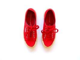 getragene Superga 39 rot Sportschuhe Stoffschuhe