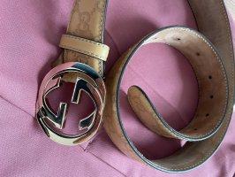 Gucci Cinturón de cuero beige-crema