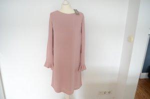 GHOST Traum Crepe Kleid NEU! 38 NP 475,00 € mit langen Armen pastell rosa