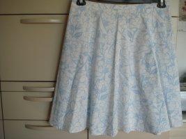 GIADA - Glockenroch Tellerrock Rock Gr. 44 weiß hellblau geblümt - Baumwolle