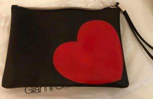 Gianni chiarini Clutch black-dark red