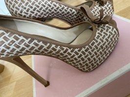 GIANNI MARRA Buty na platformie beżowy-w kolorze białej wełny