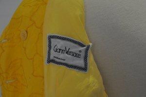 Gianni Versace Blazer corto amarillo-amarillo neón Lino