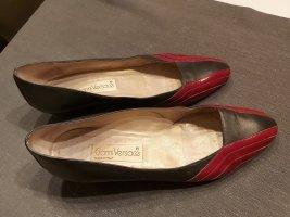 Gianni Versace Pumps in dunkelgrau / dunkelrot Größe 40