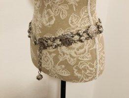 Gianni Versace Cinturón de cadera color plata
