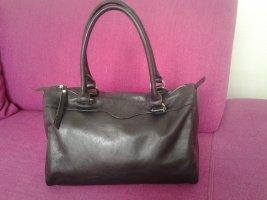 Gigi Lederhandtasche in schwarz