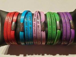 Gilardy Bracelet en cuir multicolore