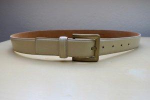Giorgio  Armani Leather Belt oatmeal-cream leather