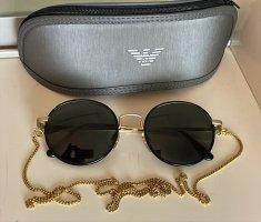 Giorgio  Armani Okrągłe okulary przeciwsłoneczne Wielokolorowy Metal